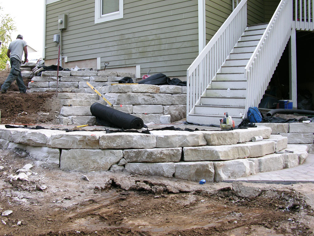 The step/retaining wall system.