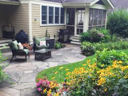 The New York Bluestone patio after completion