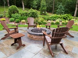 The completed fire pit and patio