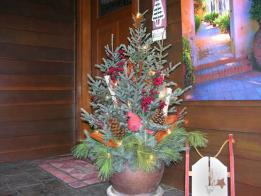 Holiday Urn with Plant Cuttings