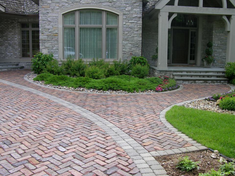 old cobblestone driveway