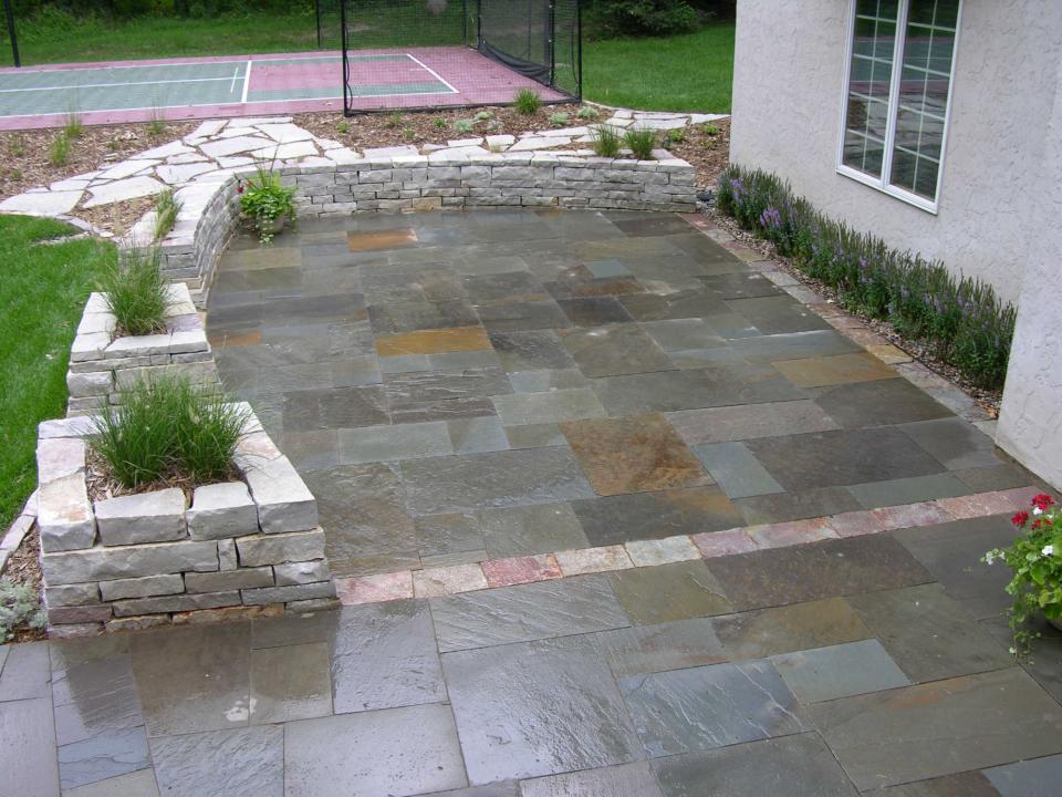Yardmasters mn landscape design company for Bluestone porch
