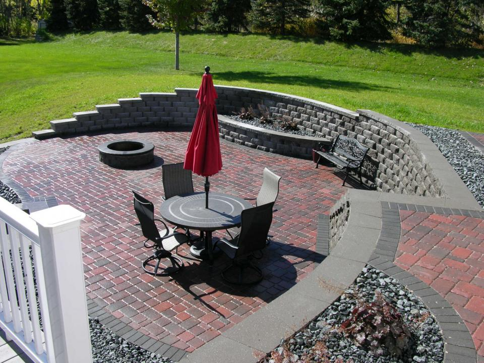 Patio Area with Fire PitOutdoor Living   Yardmasters Landscaping Company. Eden Outdoor Living Round Rock. Home Design Ideas