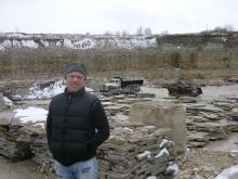 Craig at the Eden Stone quarry